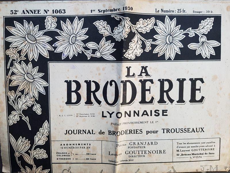 画像1: 1950年9月の刺繍新聞 LA BRODERIE LYONNAISE (1)