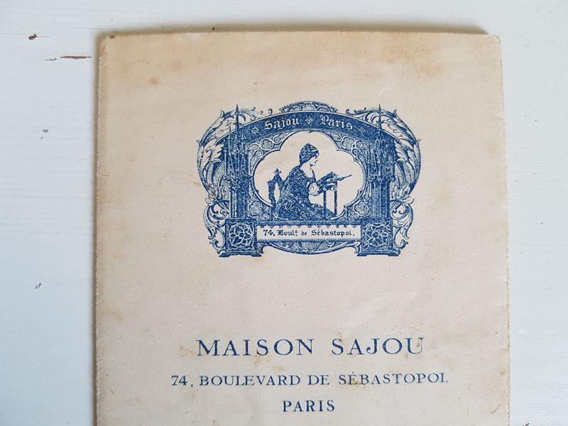 画像1: アンティーク MAISON SAJOU 刺繍アルファベット図案 No.53 (1)