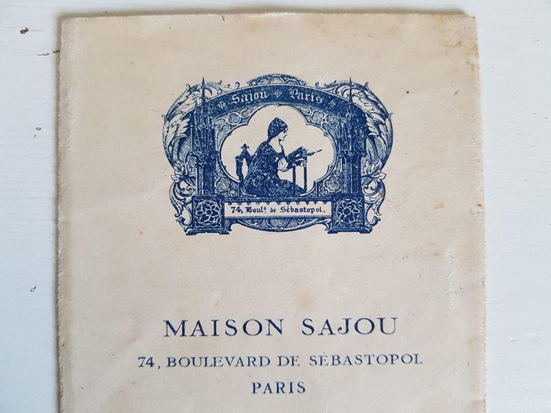 画像1: アンティーク MAISON SAJOU 刺繍アルファベット図案 No.55 (1)