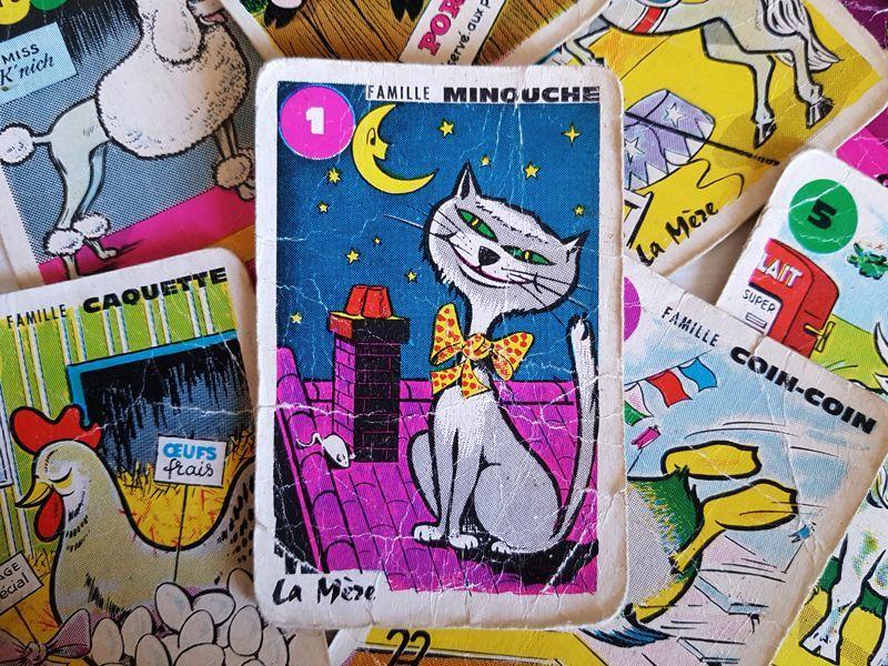画像1: フランスヴィンテージ 7 Familles カード (1)