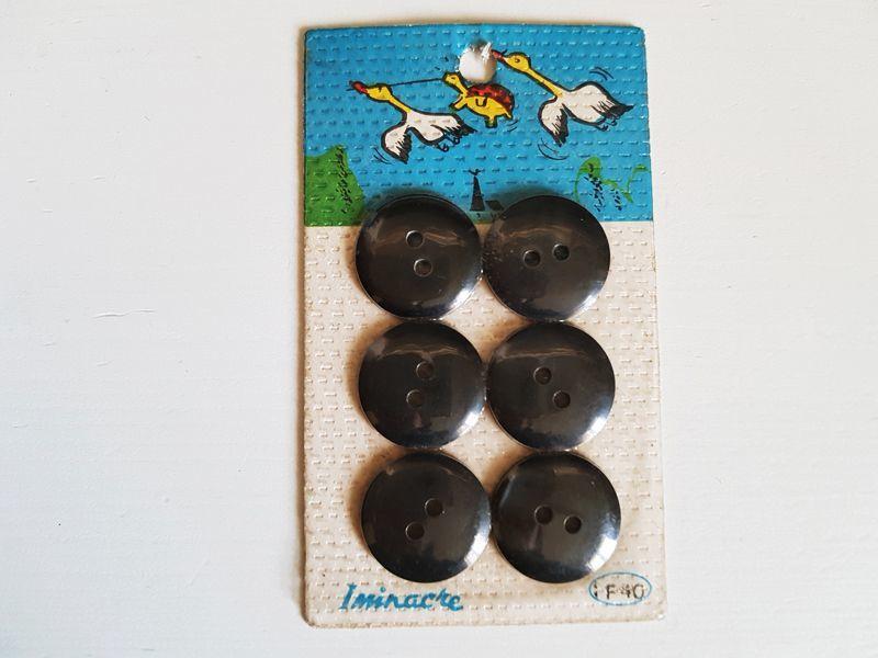 画像1: フランスヴィンテージ Iminacre社のカメと鴨2匹 ボタンシート (1)