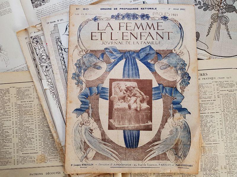 画像1: フランスアンティークジャーナル LA FEMME ET L'ENFANT 1921 Avril (1)