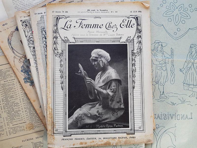 画像1: フランスアンティーク女性誌 La Femme Chez Elle 1916 Juin (1)