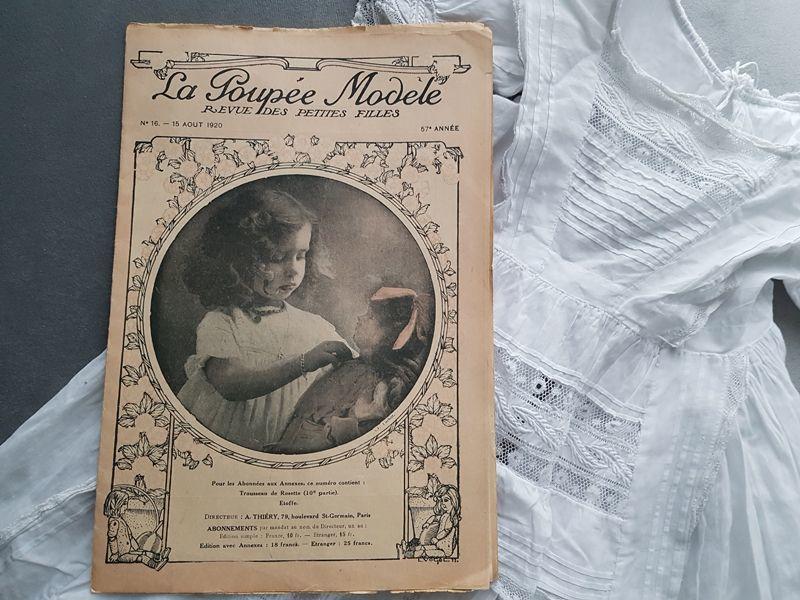 画像1: フランスアンティーク少女誌 La Poupée Modele 1920 AOUT (1)