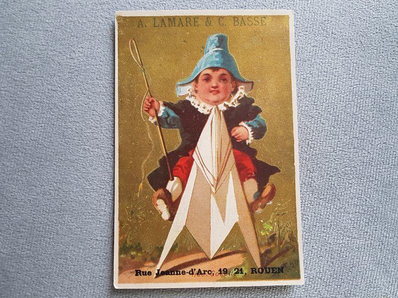 画像1: フランスアンティーク クロモ ナポレオン帽子を被った少年 (1)