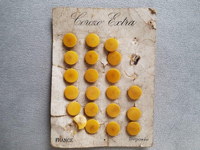 画像1: フランスアンティーク 19世紀前後コロゾのボタンシート (1)