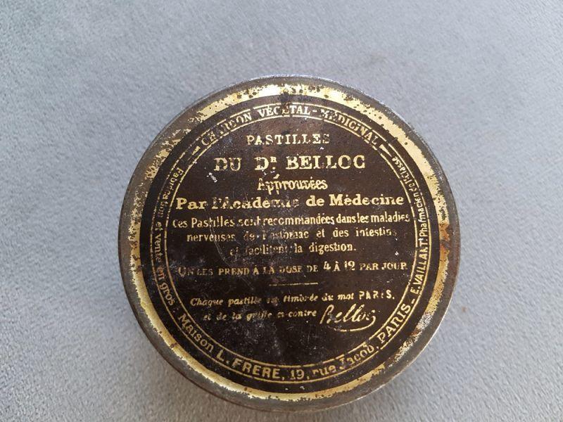 画像1: フランスヴィンテージ ファーマシーTin缶 フック付き (1)