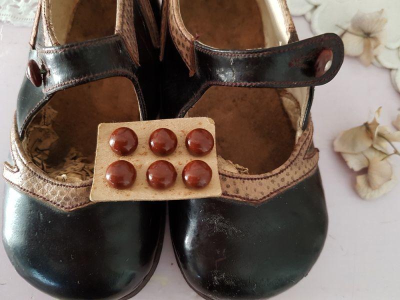 画像1: フランスアンティーク 靴用ボタン 9mm (1)