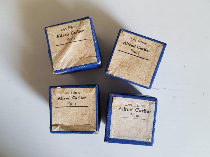 画像1: フランスヴィンテージ 1950-60 古い映画フィルム入りちいさな紙箱 (1)