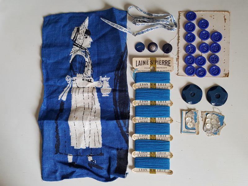 画像1: フランスヴィンテージ メルスリーセット《Bleu》 (1)