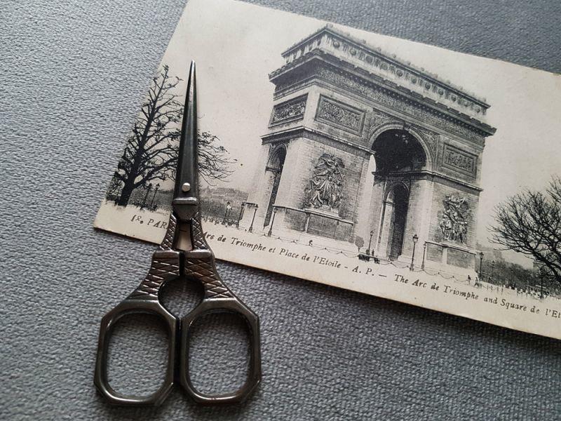 画像1: フランス エッフェル塔の手芸はさみ (1)