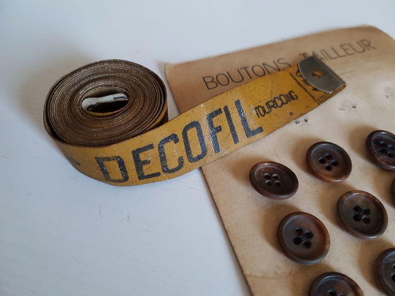 画像1: フランスアンティーク 革製メジャー DECOFIL (1)