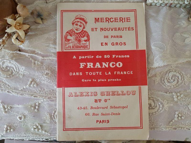 画像1: フランスアンティーク パリのメルスリー屋さんのカタログ ALEXIS GRELLOU (1)