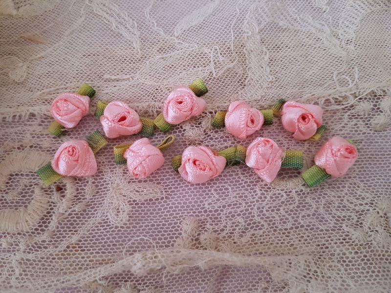 画像1: フランスヴィンテージ バラのロココモティーフ 2つセット (1)