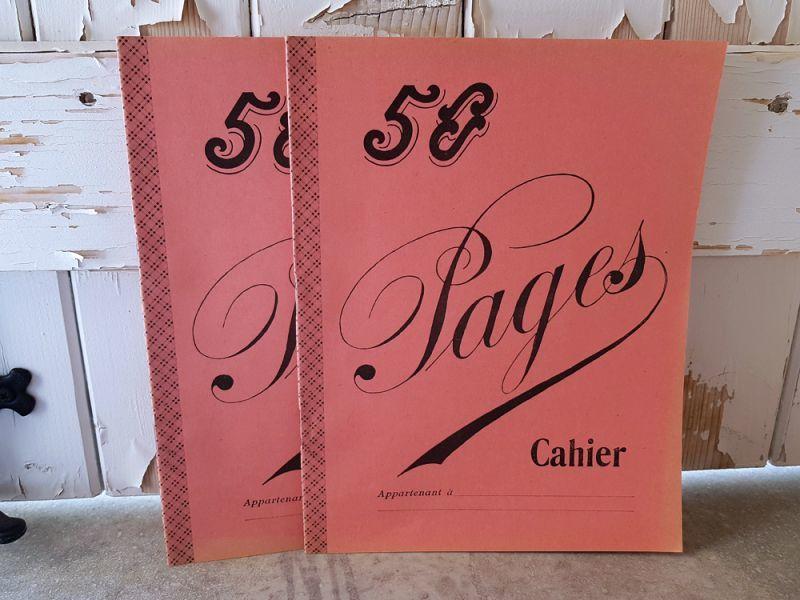 画像1: フランスヴィンテージ ノート 50 Pages Cahier Rose (1)