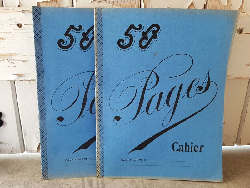 画像1: フランスヴィンテージ ノート 50 Pages Cahier Bleu (1)