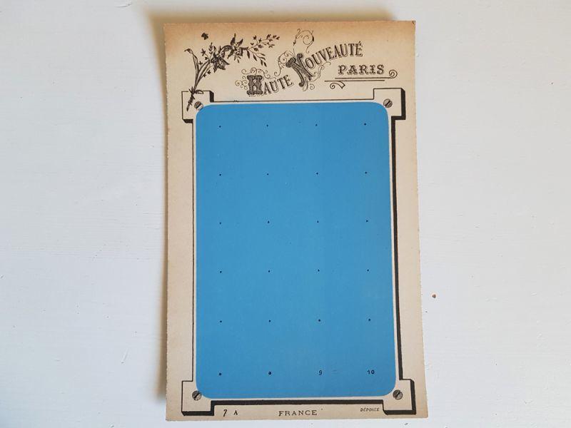 画像1: フランスヴィンテージ 未使用ボタンシート (1)