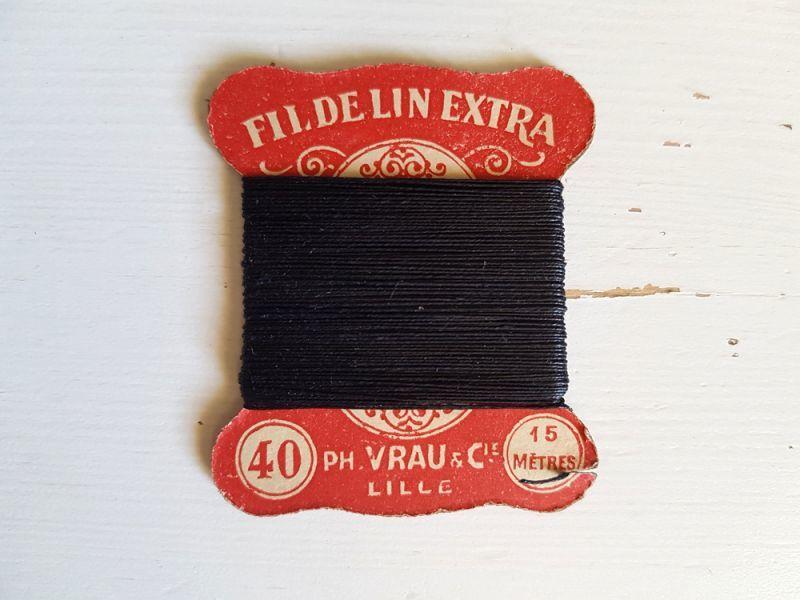 画像1: フランスアンティーク ちいさなリネンの糸巻き PH.VRAU&CIE LILLE (1)