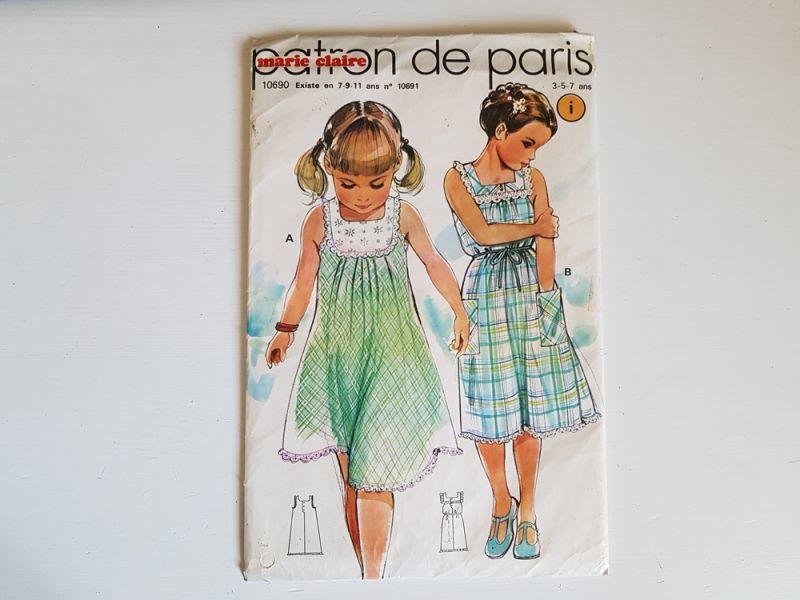 画像1: フランスヴィンテージ 1960s 未開封の型紙 marie claire (1)