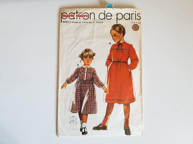 画像1: フランスヴィンテージ 1960s 型紙 marie claire (1)