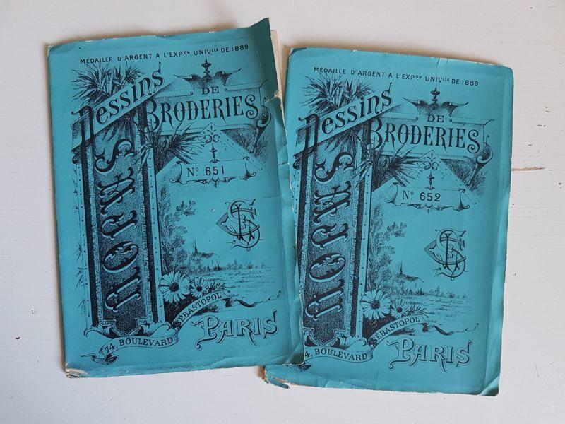 画像1: フランスアンティーク MAISON SAJOU 刺繍アルファベット図案 DESSINS DE BRODERIRS No.651-652 (1)
