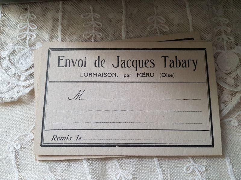 画像1: フランスヴィンテージ Jacques Tabaryさんからのカード (1)